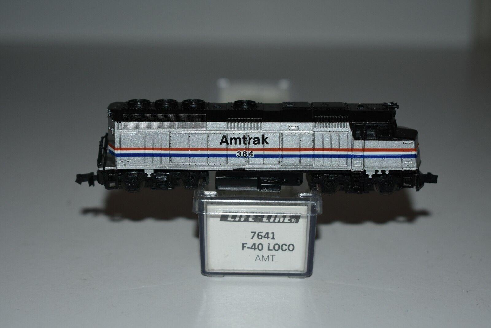 N Scale LifeLike 7641 Amtrak F40 Powered Diesel Locomotive 384 C8455
