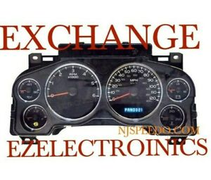 INSTRUMENT CLUSTER EXCHANGE FOR CHEVY GMC TRUCK 2007 TO 2012 PART# 15899917