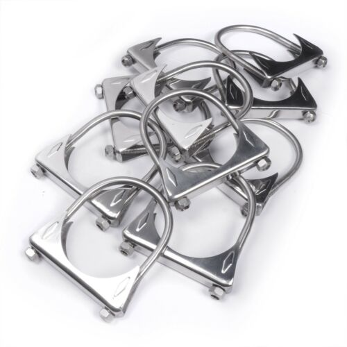 "Pack of 10 Stainless Works 3/"" 304 Stainless Steel Saddle//U-bend Exhaust Clamps"