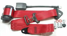 Roter Automatik 3 - Punkt Sicherheitsgurt Opel Ascona A / B / C , Red Seatbelt