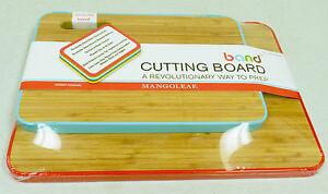 2-Bamboo-Cutting-Boards-With-Color-Coded-Removable-Bands-1-Large-1-Medium-New