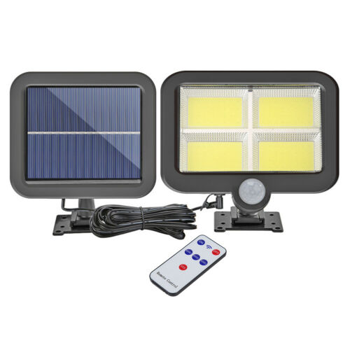 128LED PIR Motion Sensor Wall Light Solar Power Waterproof Outdoor Garden Lamp