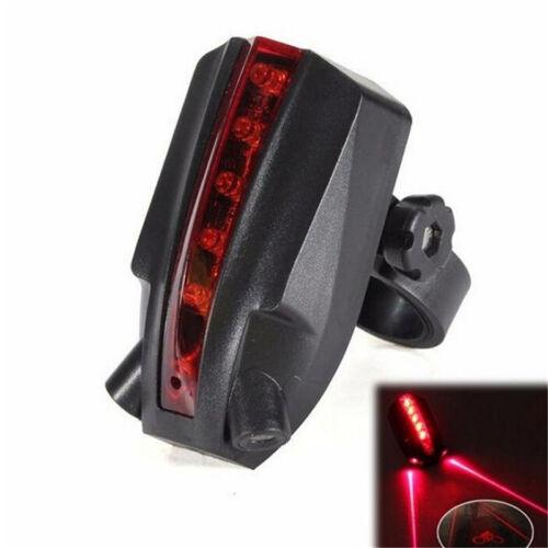 2 Laser+5 LED Flashing Rear Bike Bicycle Tail Light Lamp  Beam Safety Warning