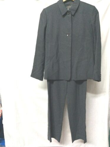 Banana Republic Gray Silk Pant Suit Womens Size 6
