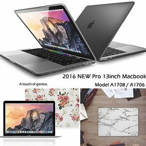 """Hard black Case Cover for Macbook Pro 13 15/"""" with//out Touch Bar 2016 A1706 A1707"""
