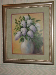 Details About Lilac Solid Wood Framed Print Vintage Home Interiors Gifts