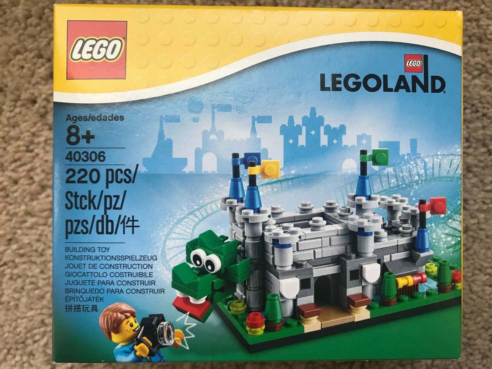 NEW SEALED LEGO SET 40306 LEGOLAND EXCLUSIVE MICRO CASTLE & OLLIE THE DRAGON