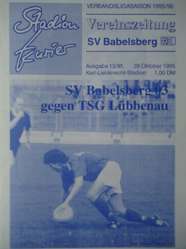 TSG Lübbenau Programm 1995//96 SV Babelsberg