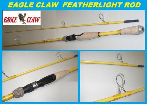 "Eagle Claw Featherlight 7/' 6/"" en fibre de verre Spinning Rod #FL209-76 Free USA NAVIRE!"