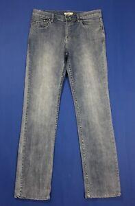 Geox-jeans-uomo-usato-slim-denim-straight-W34-tg-48-boyfriend-blu-stretch-T4479