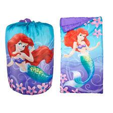 Disney Princess Ariel Indoor Slumber Sleeping Bag For Kids w/Carry Drawstring