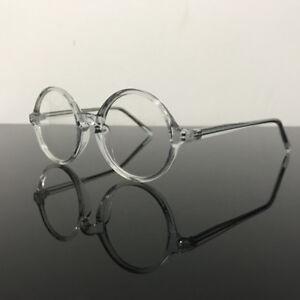 b589bf244a Vintage Round Eyeglass Frames Full Rim Acetate unisex Glasses myopia ...