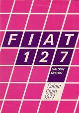 Fiat 127 Mk1 Exterior Colours Early-Mid 1977 UK Market Leaflet Brochure