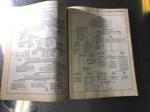 1984 Oldsmobile Service Manual Computer Command Control Diagnosis Charts