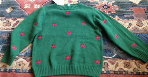 Boy J Khaki Holiday Sweater Green With Red Train NWT