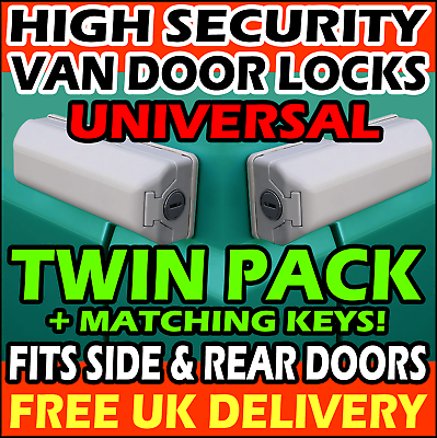 Ford Transit Conectar Milenco exterior van Alta Seguridad Cerradura de puerta Paquete Doble