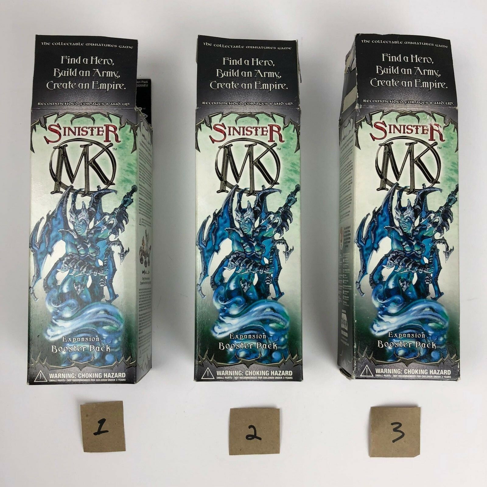 (1) Mage Knight Sinister Booster Box - OPEN & EMPTY - For Display