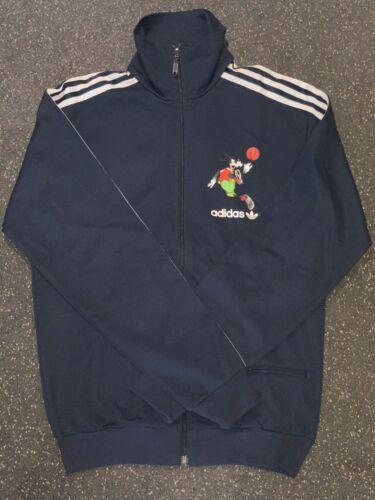 M Adidas Original Goofy Track Jacket # 109408 Navy White Men SZ S