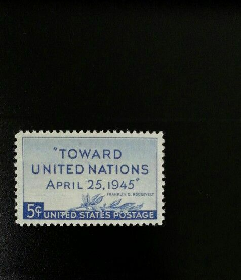 1945 5c United Nations Conference, Franklin D. Roosevel