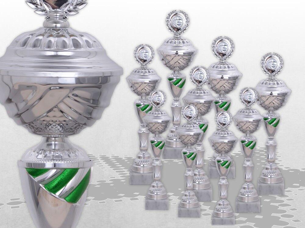 9er Pokalserie KANSAS GROSSE POKALE XXL Pokale mit Gravur günstig kaufen GRÜN