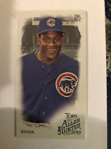2019-Topps-Allen-amp-Ginter-Mini-392-Sammy-Sosa-Chicago-Cubs-SP