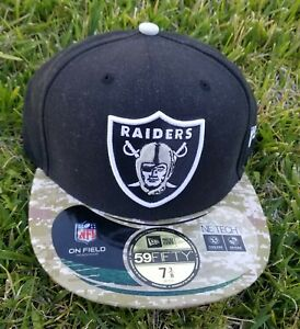 7 New Era 59Fifty Cap Salute to Service Oakland Raiders