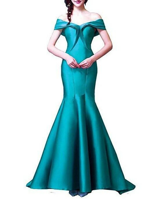 Sexy Mermaid  Long  Prom Dress Wedding Pageant Gown Ball New Size 4-12