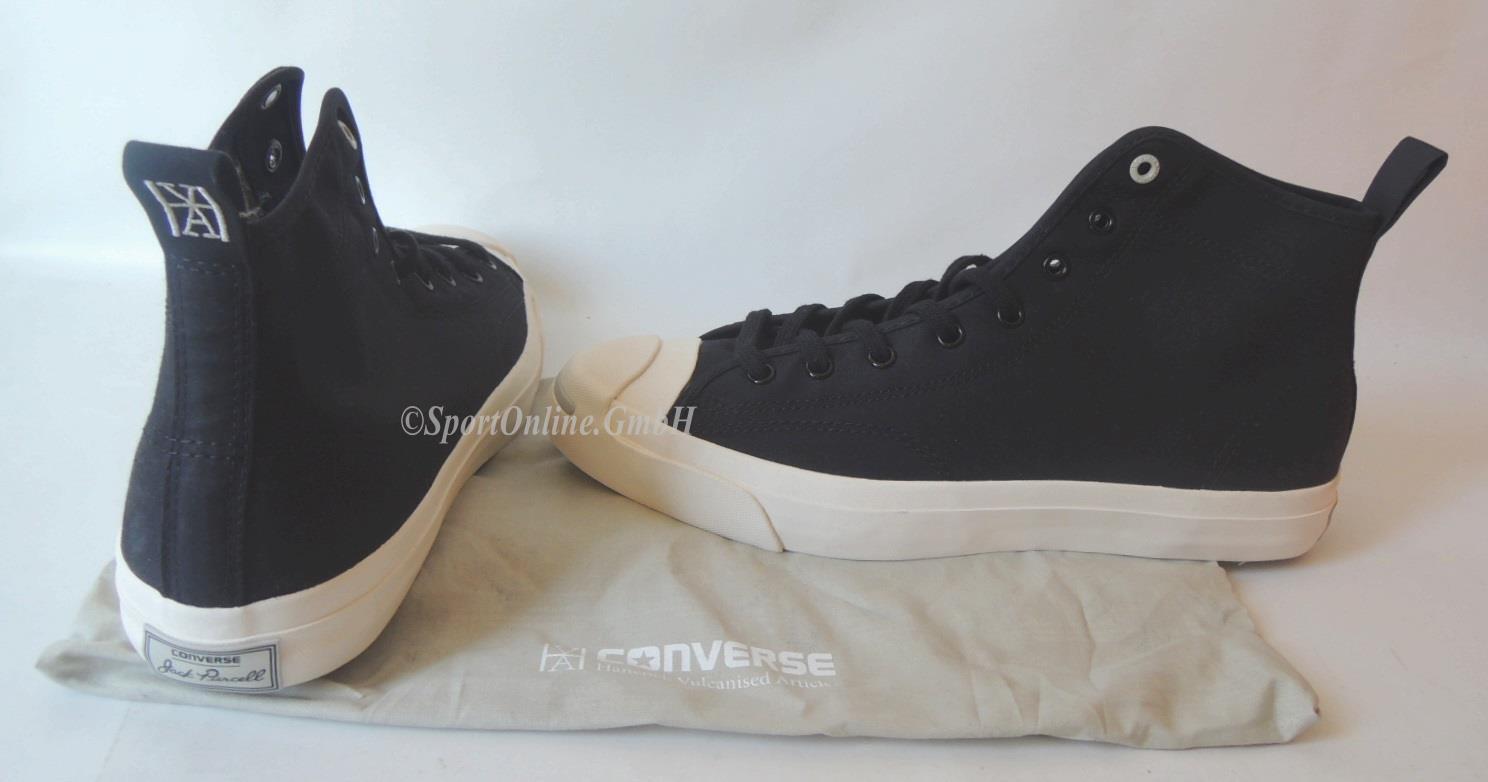 NEU Converse JP Mid Gr. 44,5 Chucks Schuhe Jack Purcell BLACK Textil Sneaker TOP