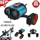 15000Lumens 2 x CREE T6 LED 4 Modes Bicycle Bike Front Head Light Cycling Lamp