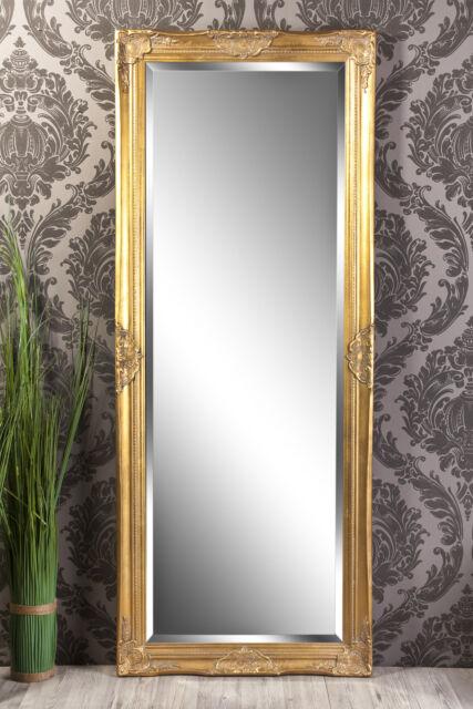 Spiegel Wandspiegel LEANDRA Barock antik gold  150 x 60 cm