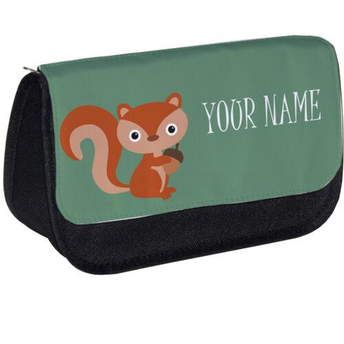 Individuelle Make-Up Beutel Personalisiert Wald Eichhörnchen Federmäppchen
