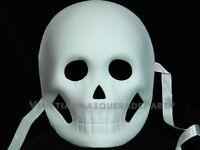 Unpainted White Day Of The Dead Mexican Dia De Los Muertos Masquerade Skull Mask