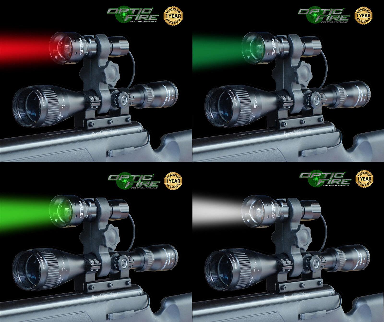 Opticfire® TX-38 T38 zoom scope lamp gun light lamping kit hunting rifle torch