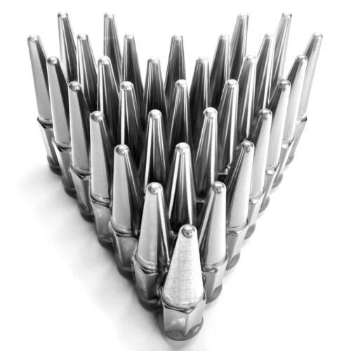 Spike Lug Nuts 14x1.5 Acorn fit C2500 K2500 Silverado 3500 Avalanche 2500 Chrome