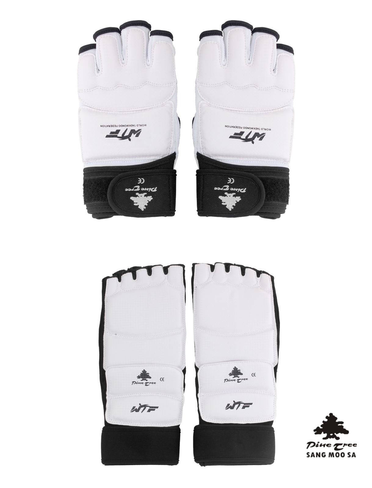 XL Pine Tree TKD Taekwondo Fußschutz Fußschützer Fußschoner WT Protector XS