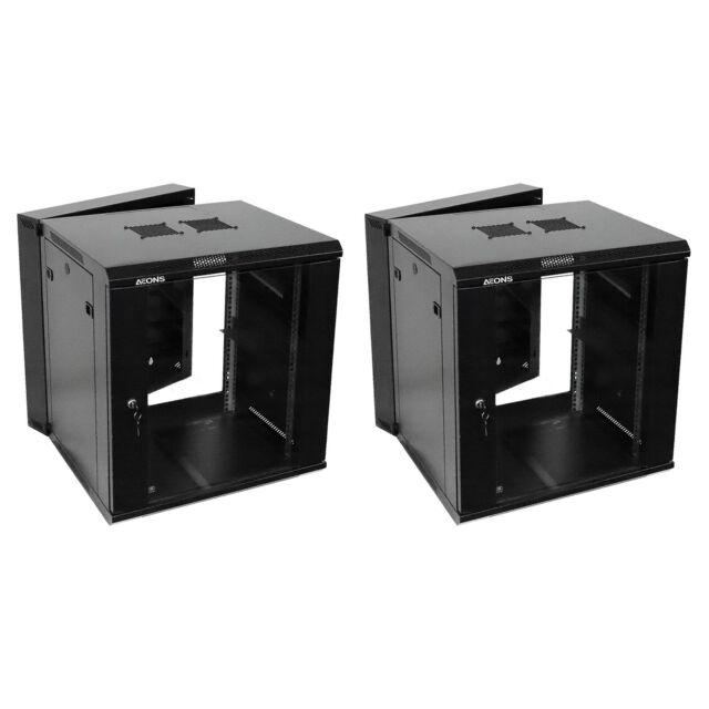 Toten 12u Professional Wall Mount Server Cabinet Enclosure Double Section Hin For Sale Online Ebay