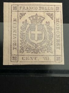 Stamp-Ancient-States-Modena-1859-20-C-Slate-MVLH