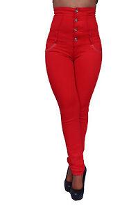 Brazilian butt lift style high waist red skinny leg pants by silver diva dj1627r ebay - Diva pants ebay ...