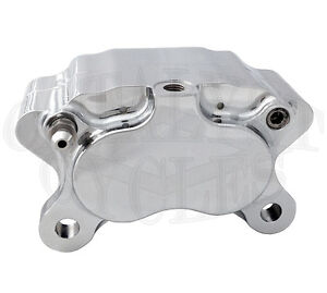 ultima four piston chrome brake caliper for harley brake