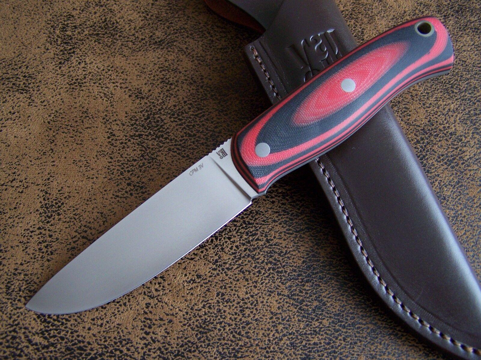 D. Uldanov Exklusives Custom Messer Outdoormesser Jagdmesser CPM 3V Stahl 62-HRC