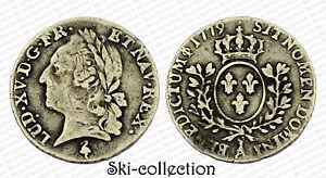 1-20-Ecu-1779-A-Paris-A-la-vieille-tete-frappe-posthume-Louis-XV-Argent