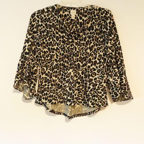 Leopard Shirt Leopard Top Leopard Blouse Leopard Print Animal Print Fishtail Shirt Fish Tail Shirt Hi-Low Hem 90s Grunge S Small M Medium