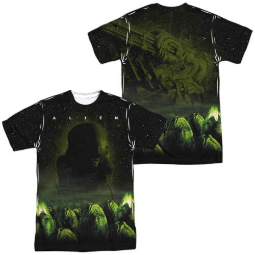 Alien Movie sinistre 2-Verso sublimées All Over Imprimé Poly T-Shirt