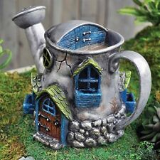 Fiddlehead watering can house tree fairy garden door