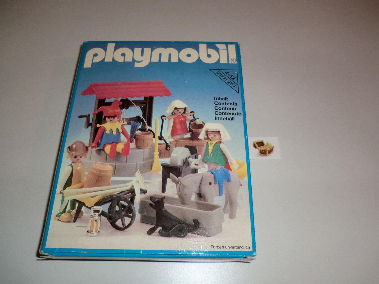 Playmobil Klicky Klicky Klicky Set 3487 Hofnarr Brunnen Joch Wasserträgerin Bauern Neu OVP 125ae4