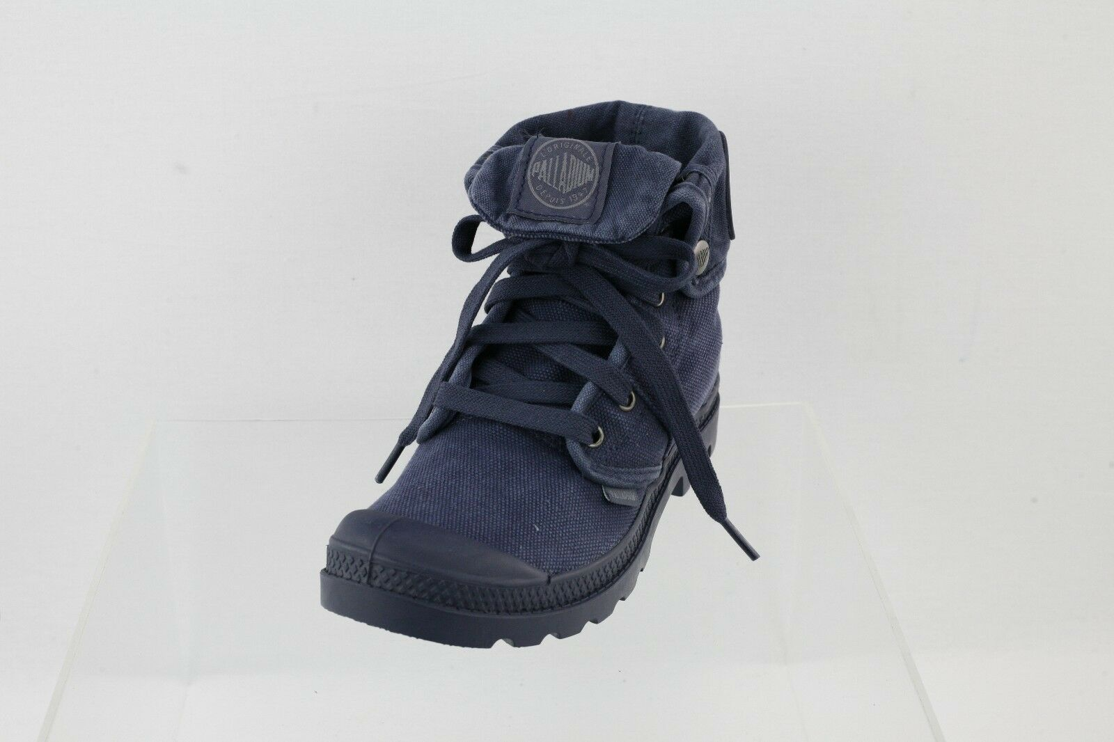 Women's Palladium Pallabrouse Baggy Navy bluee Lace-up High Top Sneakers Size 5.5