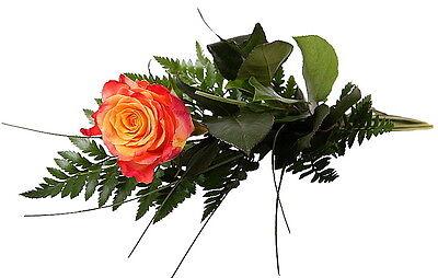 """Konstruktiv Blumenversand Einzelne Rose Gelb-orange """"ich Denk An Dich"""" üBerlegene QualitäT In"""