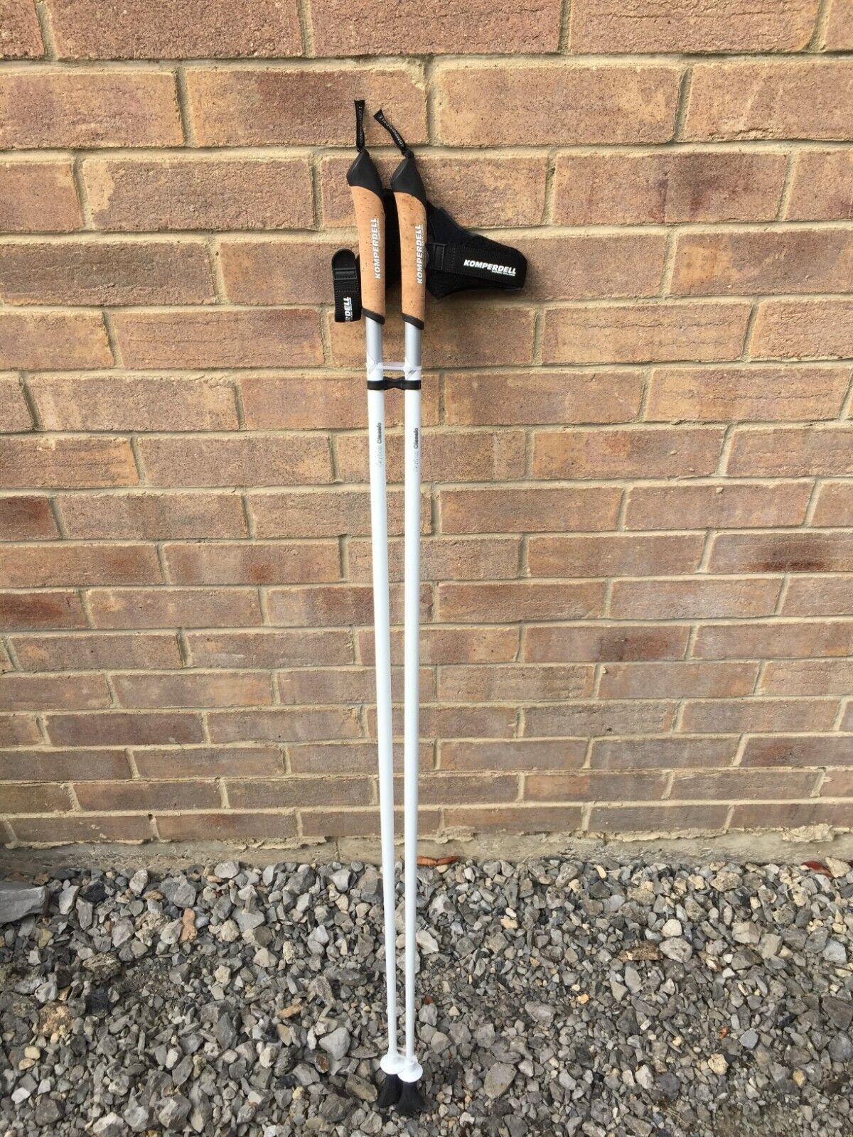 KOMPERDELL Nordic Walking Poles Balance 115 cm Red black new