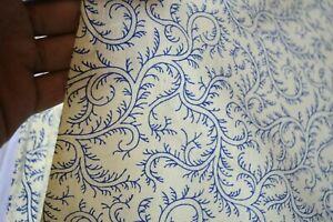 Indian-Handmade-Floral-Cotton-Hand-Block-Print-Dressmaking-Fabric-Craft-3-Yard