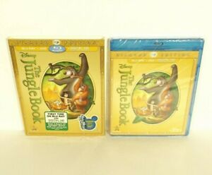 Disney-039-s-The-Jungle-Book-Blu-ray-DVD-2-Disc-Set-Canadian-NEW-with-SLIPCOVER
